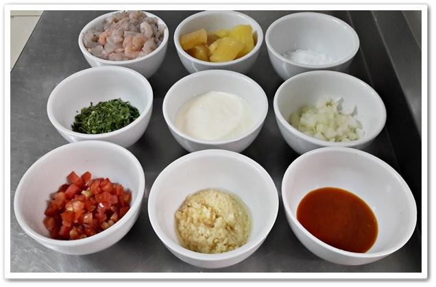 Bobó de camarão - ingredientes